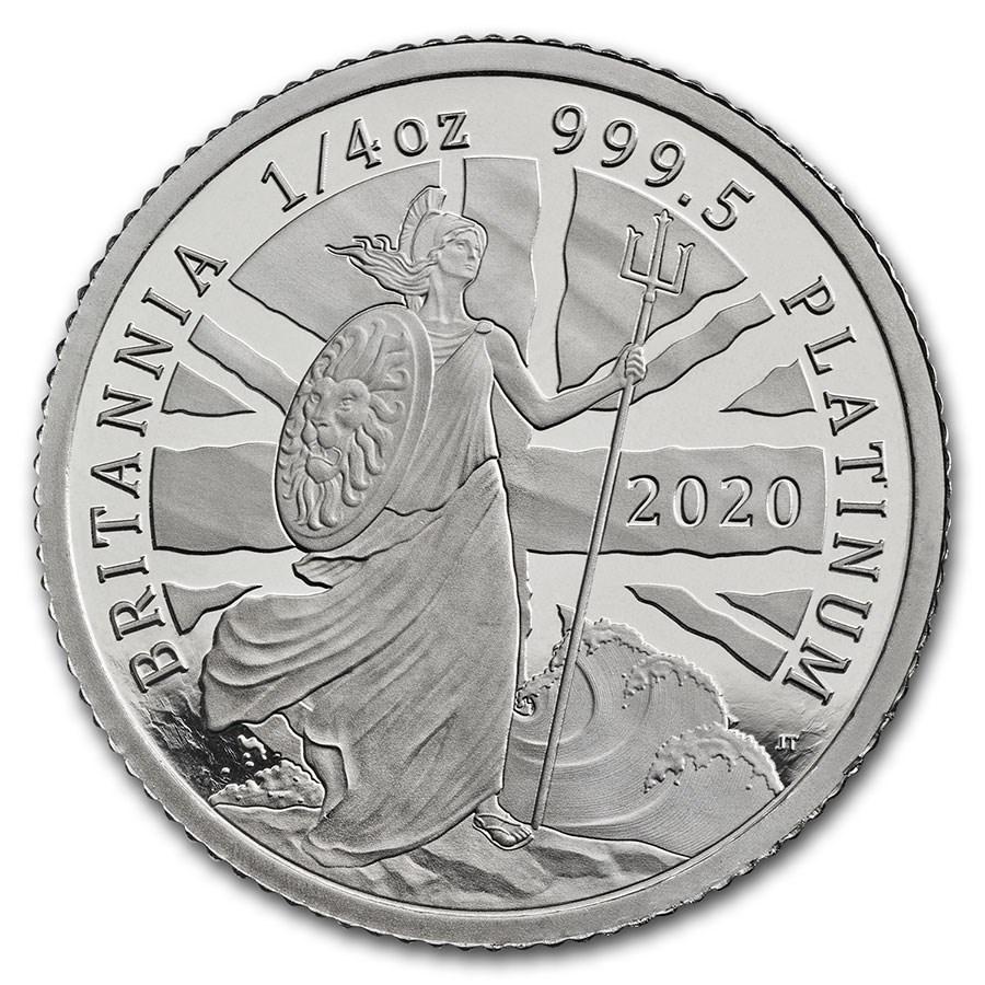 2020 Great Britain 1/4 oz Proof Platinum Britannia