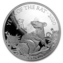 2020 Great Britain 1 kilo Silver Year of the Rat Prf (Box & COA)