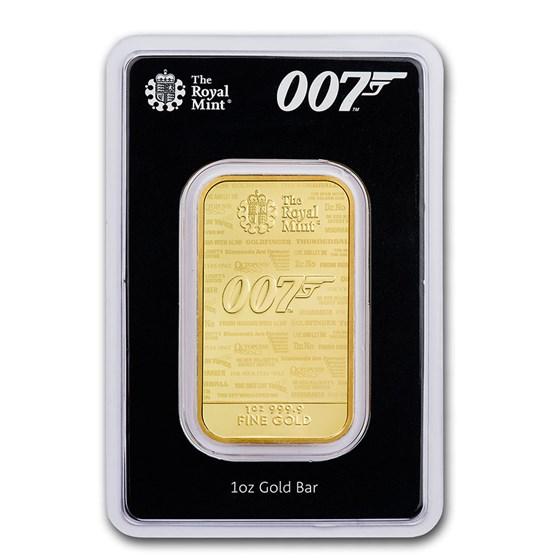 2020 Great Britain 1 oz Gold Bar: James Bond 007 (in TEP)