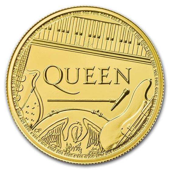 2020 Great Britain 1 oz Gold Music Legends: Queen BU