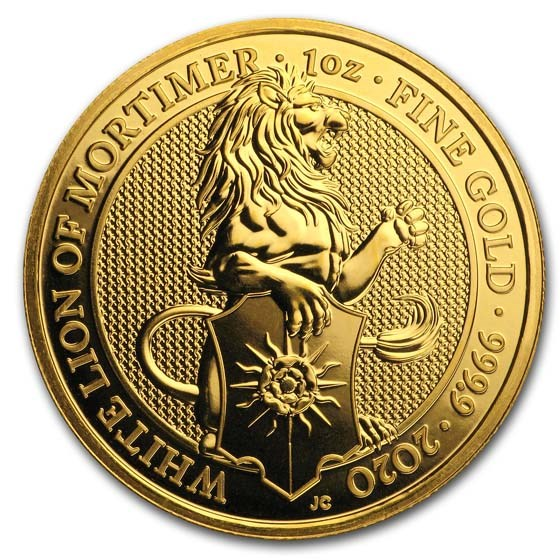 2020 Great Britain 1 oz Gold Queen's Beasts The White Lion