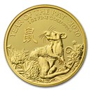 2020 Great Britain 1 oz Gold Year of the Rat BU