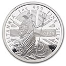 2020 Great Britain 1 oz Proof Silver Britannia
