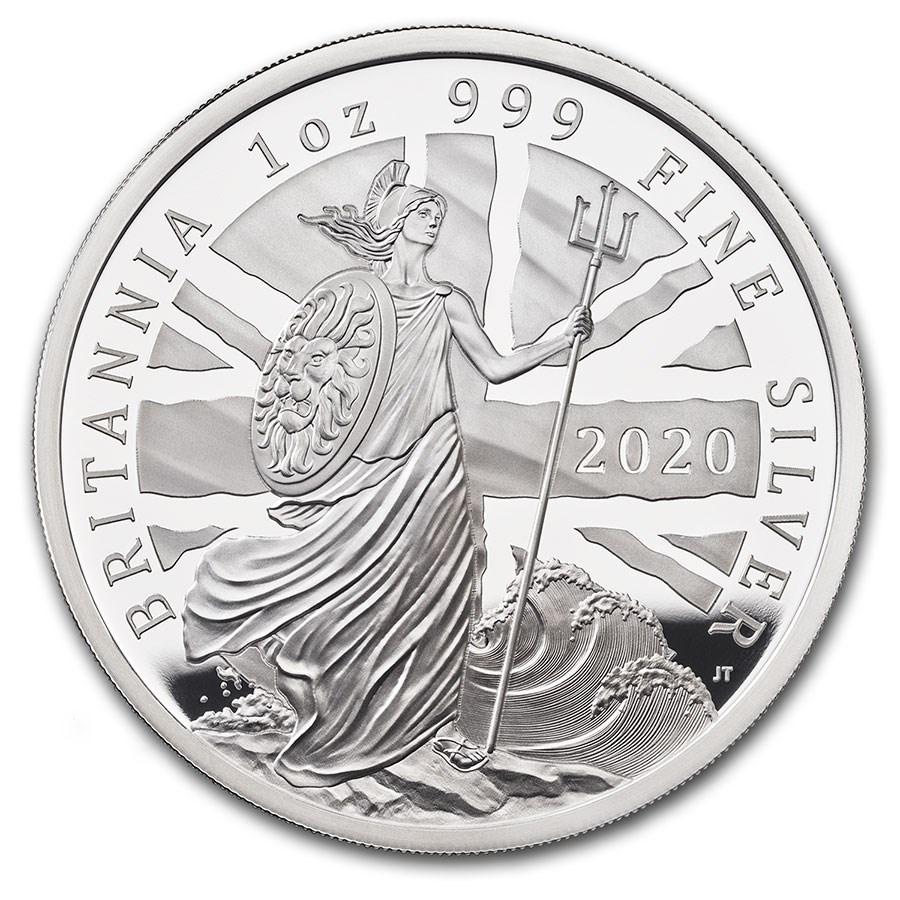 2020 Great Britain 1 oz Proof Silver Britannia