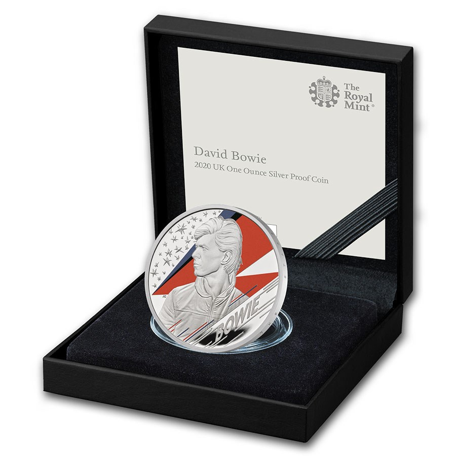 2020 Great Britain 1 oz Proof Silver Music Legends: David Bowie