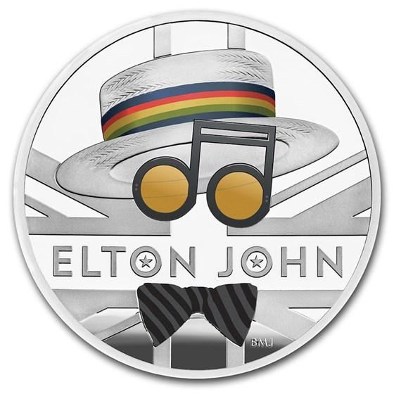 2020 Great Britain 1 oz Proof Silver Music Legends: Elton John