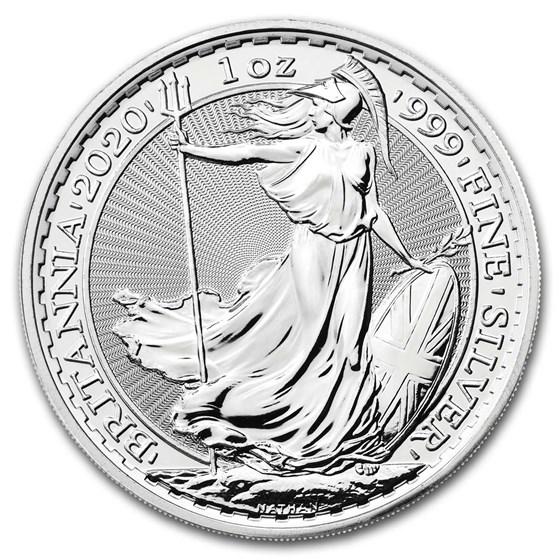 2020 Great Britain 1 oz Silver Britannia BU