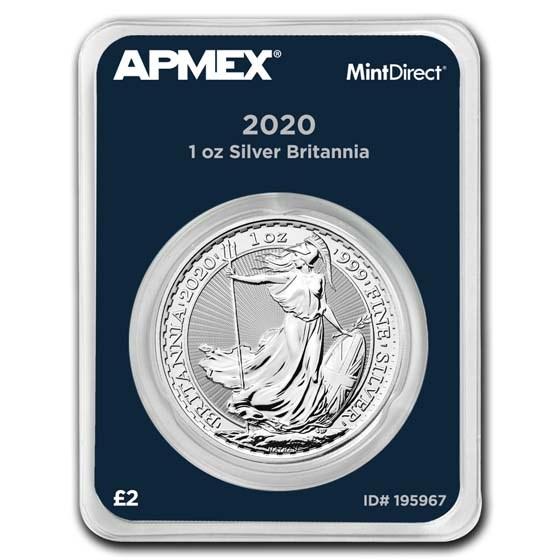 2020 Great Britain 1 oz Silver Britannia (MintDirect® Single)