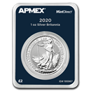 2020 Great Britain 1 oz Silver Britannia (MintDirect® Single)