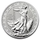2020 Great Britain 1 oz Silver Britannia Oriental Border