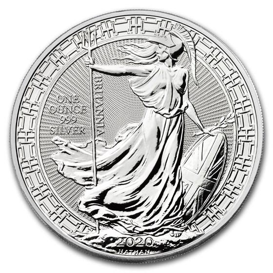 2020 Great Britain 1 oz Silver Britannia Oriental Border
