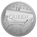 2020 Great Britain 1 oz Silver Music Legends: Queen BU