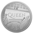 2020 Great Britain 1 oz Silver Music Legends: Queen BU