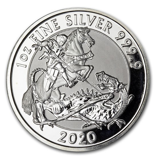 2020 Great Britain 1 oz Silver Valiant BU