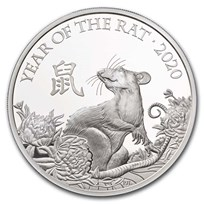 2020 Great Britain 1 oz Silver Year of the Rat Proof (Box & COA)
