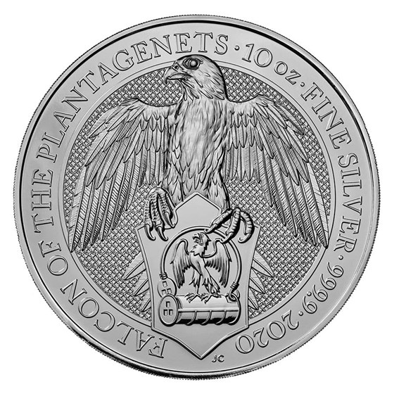 2020 Great Britain 10 oz Silver Queen's Beasts The Falcon