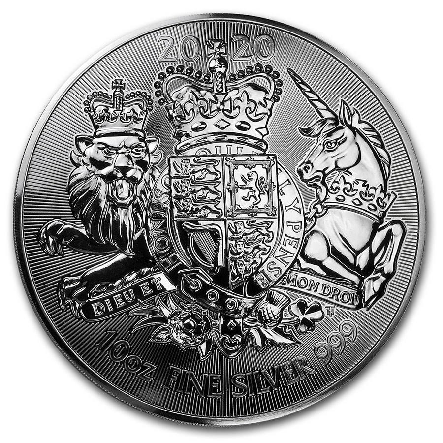 2020 Great Britain 10 oz Silver The Royal Arms BU