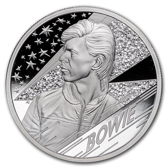 2020 Great Britain 2 oz Silver Music Legends: David Bowie Proof