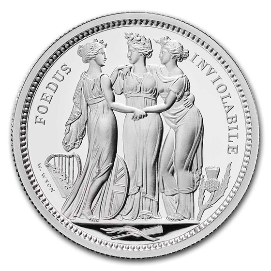 2020 Great Britain 2 oz Silver The Three Graces Proof