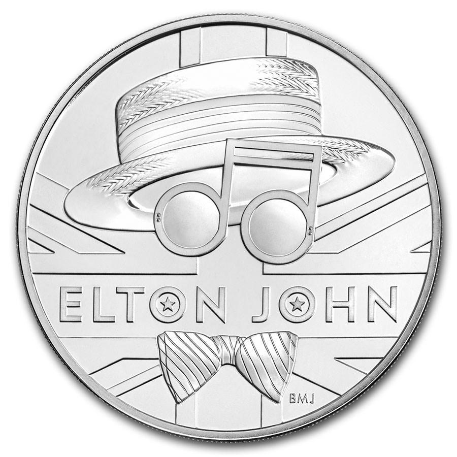 2020 Great Britain £5 Music Legends: Elton John BU