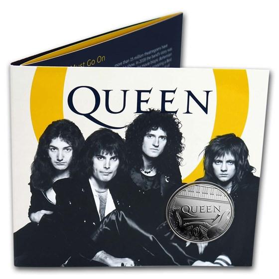 2020 Great Britain £5 Music Legends: Queen Brilliant Uncirculated