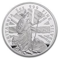 2020 Great Britain 5 oz Proof Silver Britannia