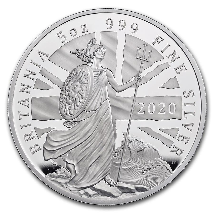 2020 Great Britain 5 oz Proof Silver Britannia