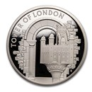 2020 Great Britain £5 Silver Proof The White Tower Piedfort