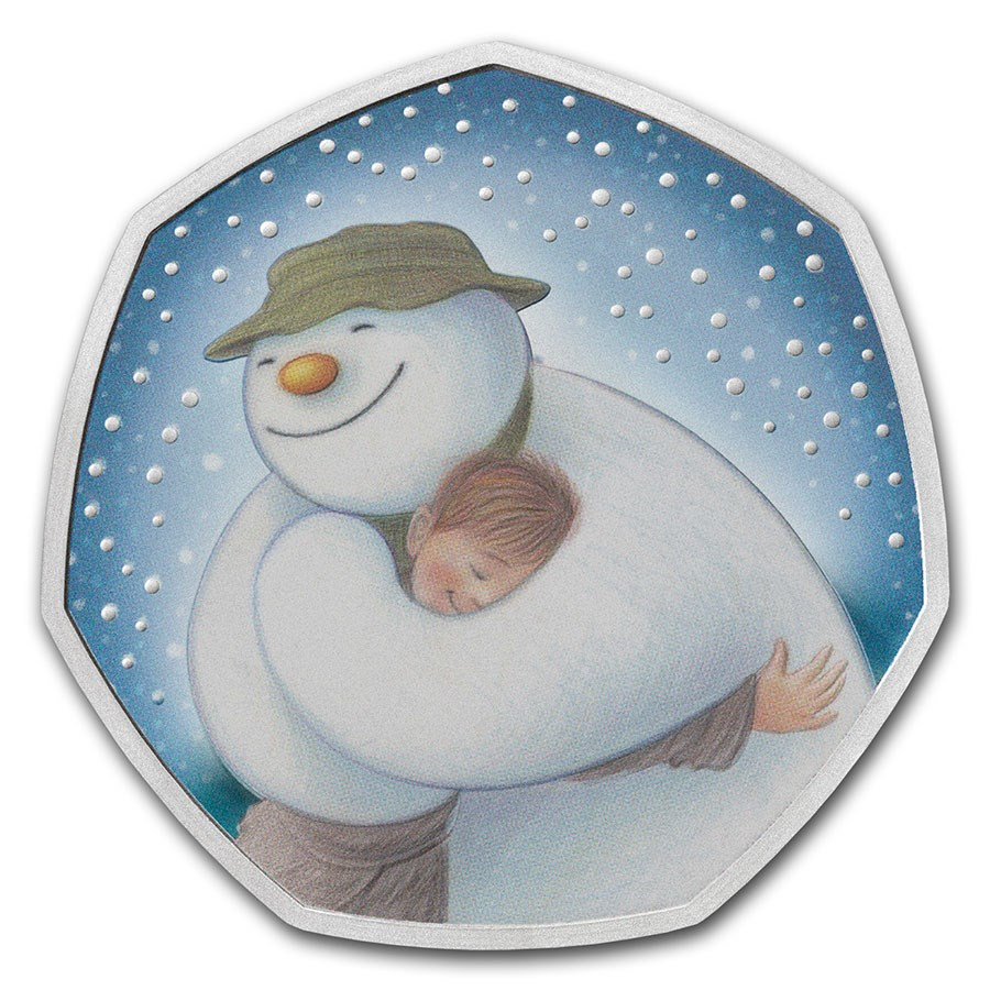 2020 Great Britain 50 pence Silver The Snowman Proof