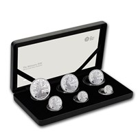 2020 Great Britain 6-Coin Silver Britannia Proof Set