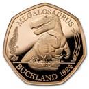 2020 Great Britain Gold 50p Proof Megalosaurus