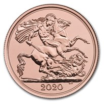 2020 Great Britain Gold Double Sovereign BU
