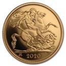 2020 Great Britain Gold Half Sovereign Proof (w/Box & COA)
