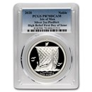 2020 Isle of Man 2 oz Silver Noble Piedfort PR-70 PCGS First Day