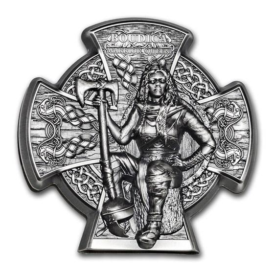2020 Isle of Man 3 oz Silver Warrior Queen: Boudica