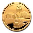 2020 Israel 1 oz Gold The Train to Jerusalem BU