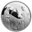 2020 Israel Silver 2 NIS the Ruth in Boaz's Field Proof
