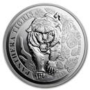 2020 Laos 1 oz Silver 500 KIP Tiger BU (Panthera Tigris)