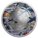 2020 Mesa Grande 1 oz Silver UFO Alien Invasion Curved Proof