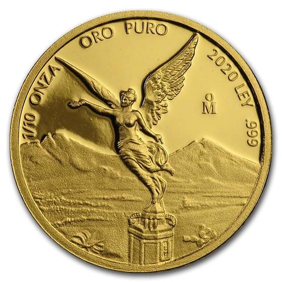 2020 Mexico 1/10 oz Proof Gold Libertad