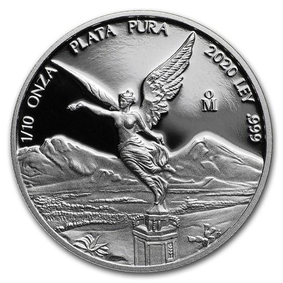 2020 Mexico 1/10 oz Silver Libertad Proof (In Capsule)