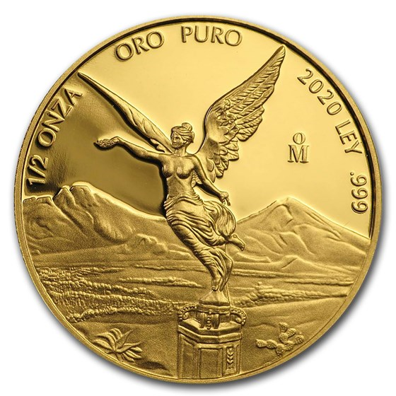 2020 Mexico 1/2 oz Proof Gold Libertad