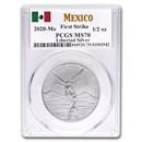 2020 Mexico 1/2 oz Silver Libertad MS-70 PCGS (First Strike)