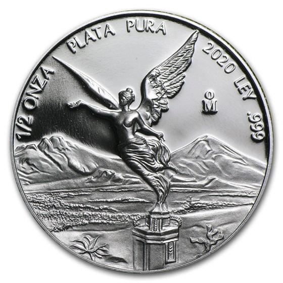 2020 Mexico 1/2 oz Silver Libertad Proof (In Capsule)