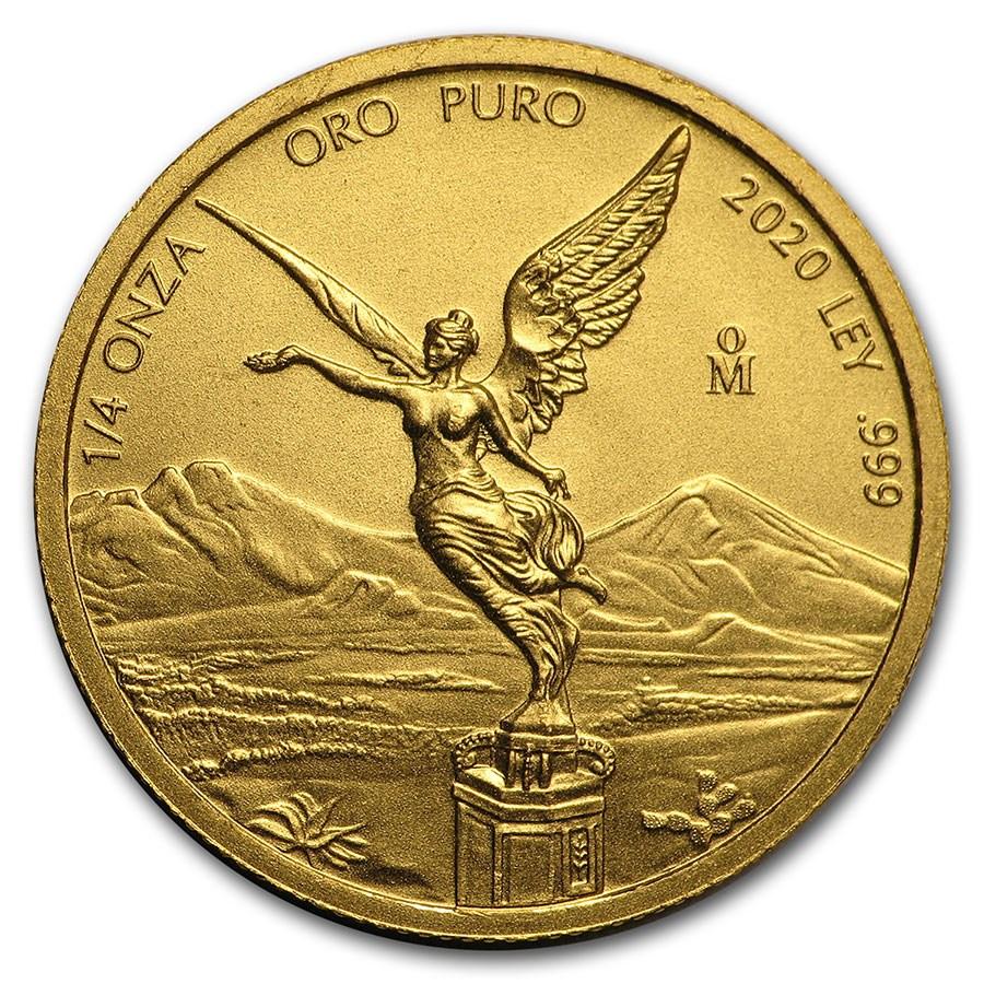 2020 Mexico 1/4 oz Gold Libertad BU