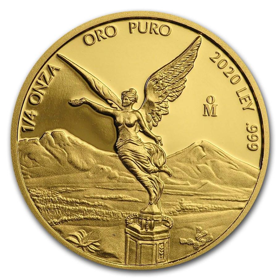 2020 Mexico 1/4 oz Proof Gold Libertad
