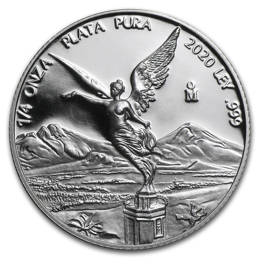 2020 Mexico 1/4 oz Silver Libertad Proof (In Capsule)