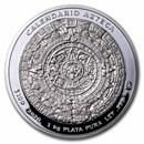 2020 Mexico 1 kilo Silver Aztec Calendar (w/Box & COA)