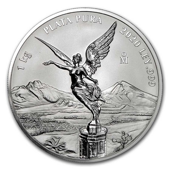 2020 Mexico 1 kilo Silver Libertad Prooflike (w/Box & COA)