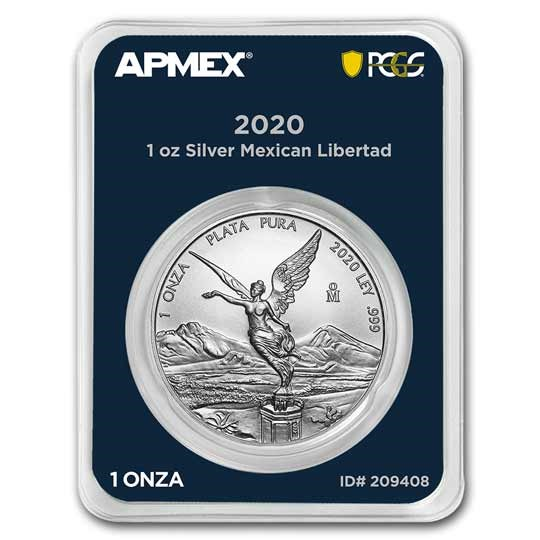 2020 Mexico 1 oz Silver Libertad (MD Premier + PCGS FirstStrike®)